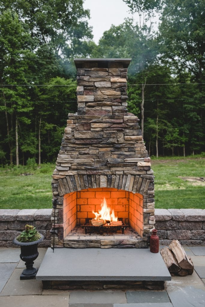 Glen Allen Grounds fireplace