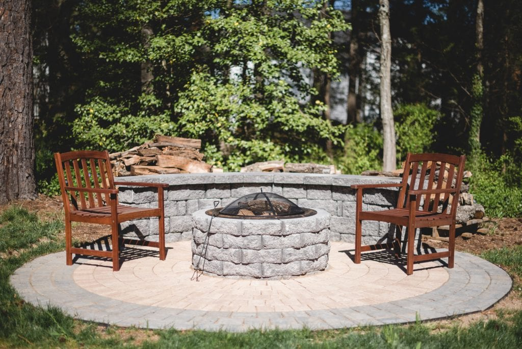 firepit on a patio