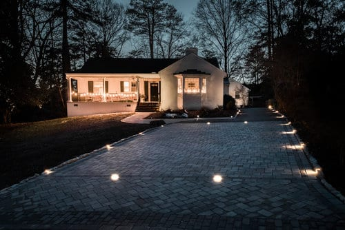 Glen Allen Grounds driveway and accent lights